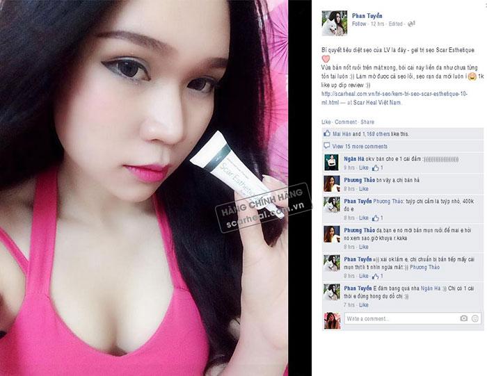 Hoygirl LV Babi chia sẻ trên tráng facebook cá nhân của mình