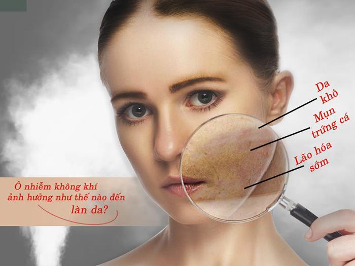 Các vấn đề của da khi chịu sự ô nhiễm không khí
